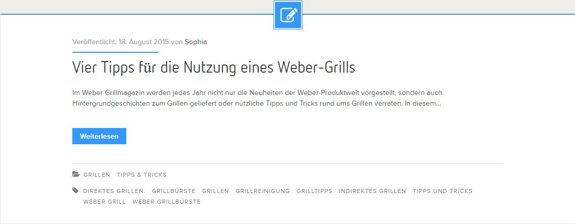 Vier Tipps für den Weber Grill