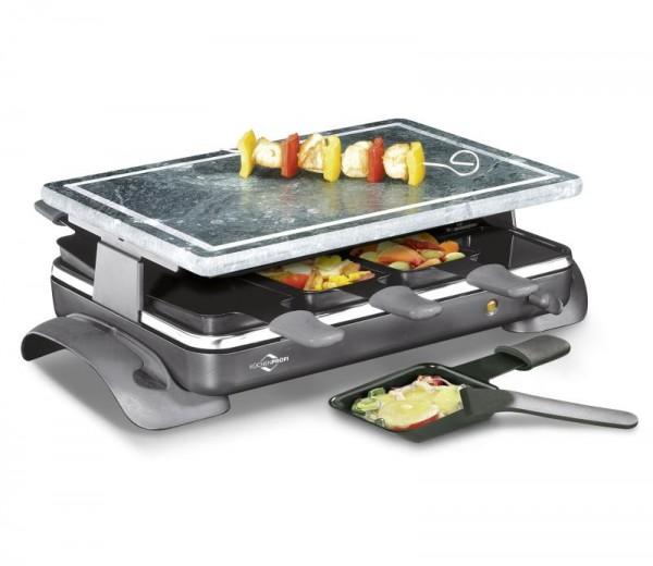 Küchenprofi Raclette Hot Stone 8 Pfännchen