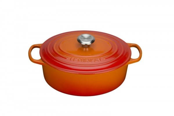Le Creuset Bräter Signature oval 29cm ofenrot