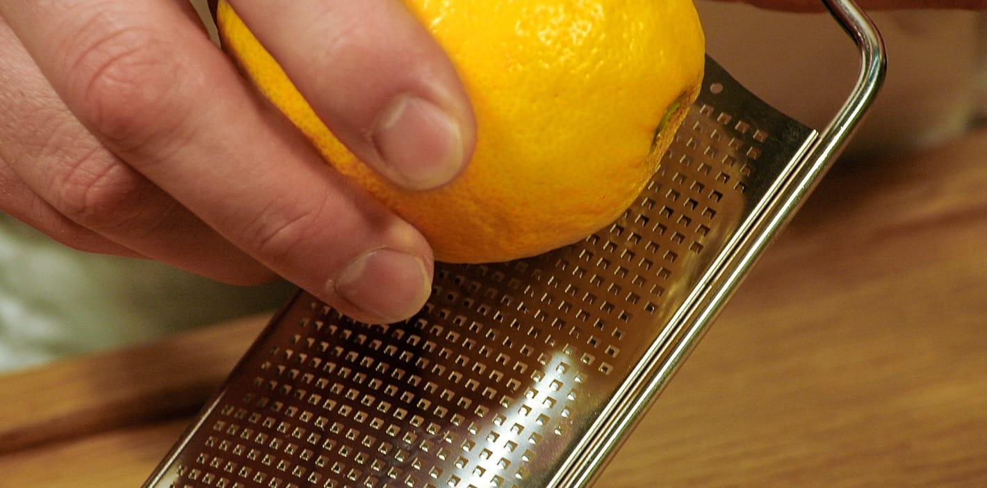 Zitronenabrieb