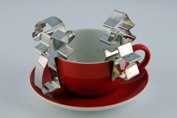 4-weihnachtliche Motiv-Ausstecher für Tassenkekse