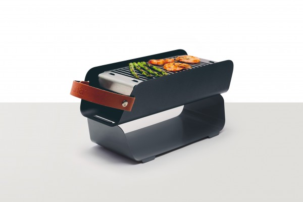 UNA Grill Tragbarer All-in-One Holzkohlegrill