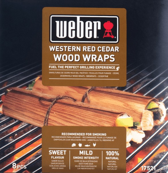 Weber Wood Wraps - Dünne Räucherhölzer Zedernholz