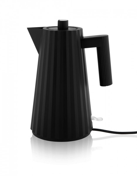 Alessi Elektrischer Wasserkocher Plissé schwarz
