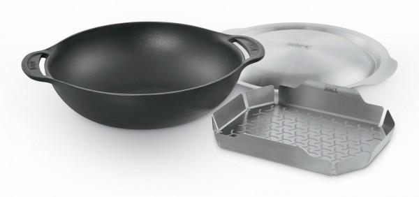 Weber Wok Einsatz - Gourmet BBQ System - inklusive Deckel und Dünsteinsatz