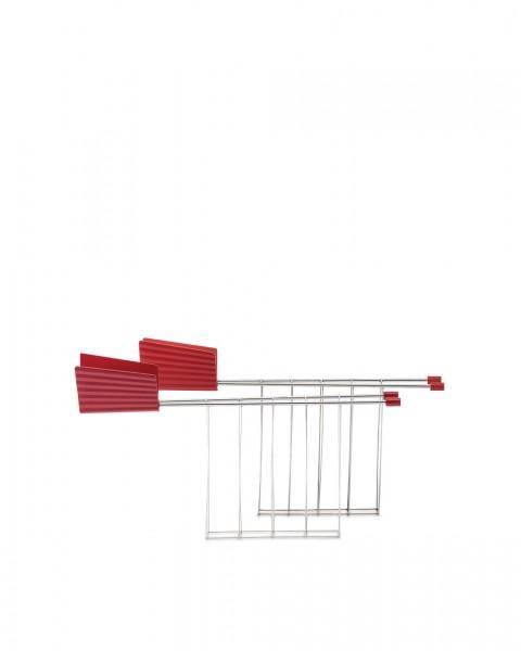 Alessi Toasterzangen für Toaster Plissé rot