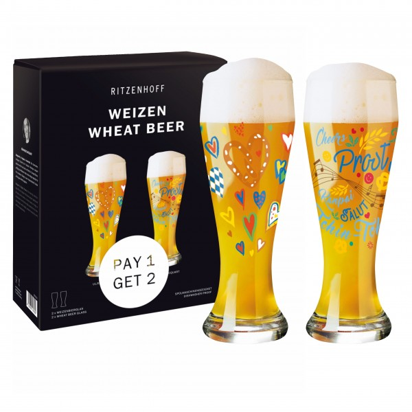 Ritzenhoff Weizen 2er Set Ulrike Vater/Veronique Acquart 2021