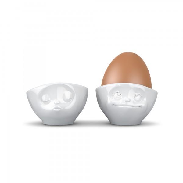 fiftyeight Eierbecherset Küssend/Verträumt weiß