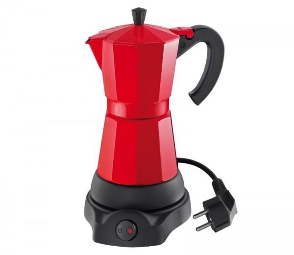 Cilio elektrischer Espressokocher rot 6 Tassen