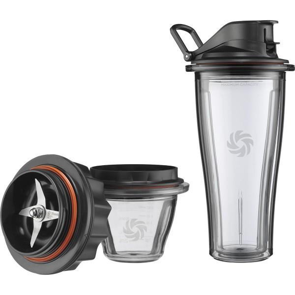Vitamix Ascent Starter-Kit 0,6L Mix&Go Behälter und 225ml Behälter und Klingenbasis