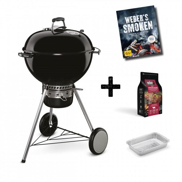 Weber Master Touch GBS Special Edition mit Räucherchips Beef und Alu-Schale
