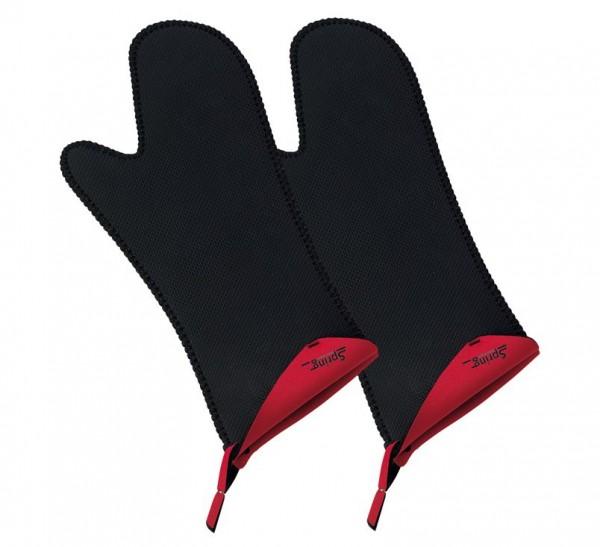 Spring Handschuh lang, 2er-Set Grips rot