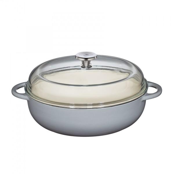 Küchenprofi Bauernpfanne grau mit Deckel 28 cm