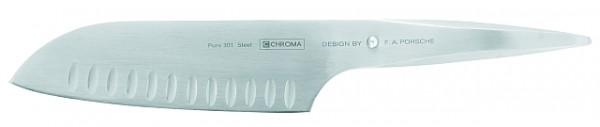 Chroma Type 301 Santoku Kullenschliff Messer