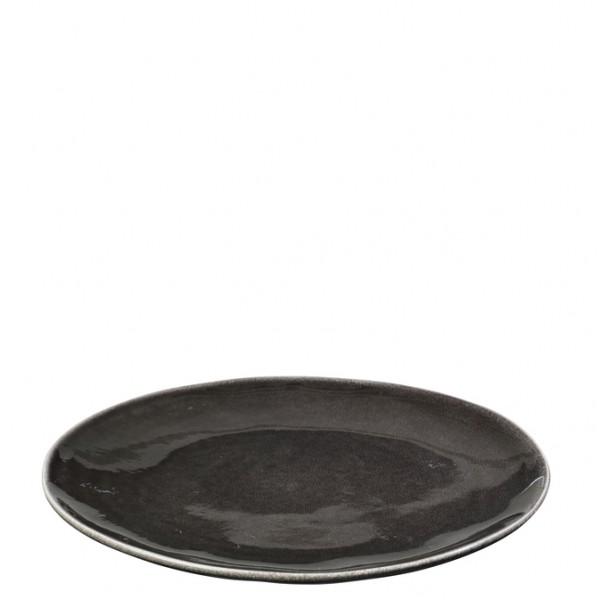 "Broste Copenhagen Teller flach 26cm ""Nordic Coal"""