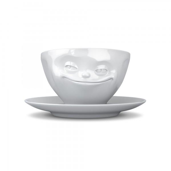fiftyeight Kaffeetasse Grinsend weiß