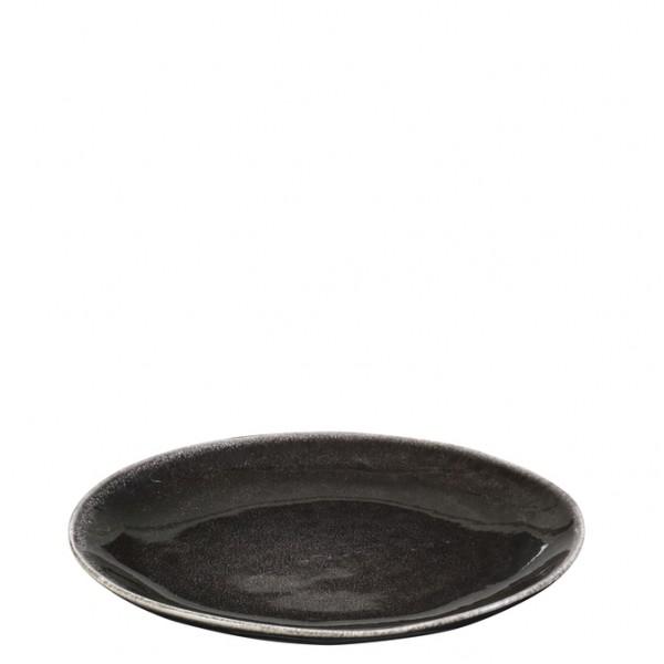 "Broste Copenhagen Teller flach 20cm ""Nordic Coal"""